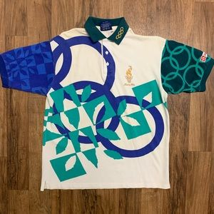 Atlanta 1996 Olympics Staff Polo Shirt Size L